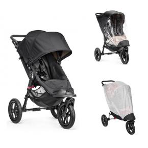 Baby Jogger City Elite Single Sittvagn, Regnskydd & Insektsnät - Svart
