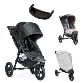 Baby Jogger City Elite Titanium Sittvagn, Regnskydd, Insektsnät & Brickbord