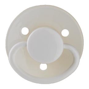 Mininor Rund Napp Latex 0m+ 2-pack- Självlysande