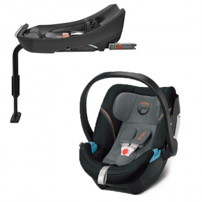 Cybex Aton 5 Bilbarnstol + Aton Bas-fix - Pepper Black