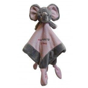 My Teddy My First Elefant Snuttefilt - Rosa