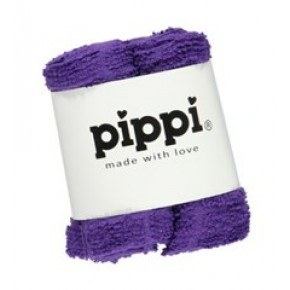 Pippi Tvättlappar 4-pack - Purple