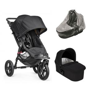Baby Jogger City Elite Sittvagn, Deluxe Pram Liggdel och Regnskydd till Pram