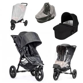Baby Jogger City Elite Sittvagn, Deluxe Pram Liggdel, Regnskydd till Pram, Regnskydd & Insektsnät