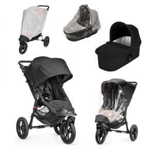 Baby Jogger City Elite Sittvagn, Deluxe Pram, Regnskydd till Pram, Regnskydd och Insektsnät