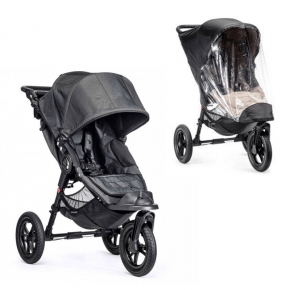 Baby Jogger City Elite Single Sittvagn + Regnskydd - Charcoal Denim