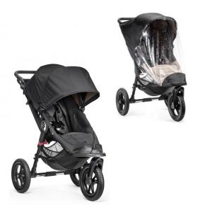 Baby Jogger City Elite Single Sittvagn + Regnskydd - Svart