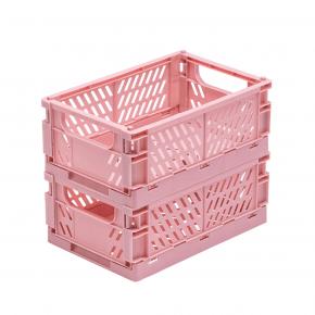TINY REPUBLIC 2 st. vikbara lådor str. Medium - Rosa