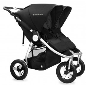 Bumbleride Indie Twin Sittvagn - Silver black