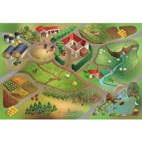 House Of Kids Matta - Bondgård Latex 100 x 150 cm