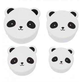 A Little Lovely Company Panda Matlådor - Vit