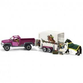 Schleich (42346) Pick-up-bil med Hästtransport