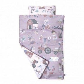 Sebra Farm Baby Sängkläder - Rosa