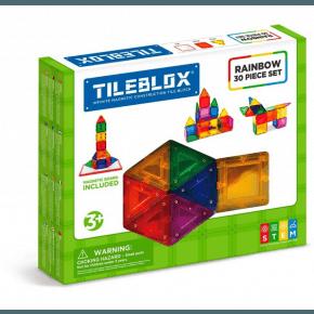 Tileblox Rainbow 30 set med magnetkort - konstruktionssats