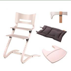 LEANDER Klassisk barnstol med tillbehör - vit