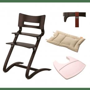 LEANDER Klassisk barnstol med tillbehör - valnöt