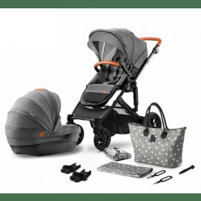 Kinderkraft PRIME 2in1 kombivagn 2020 - grå