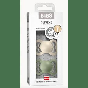 BIBS Supreme Str. 1 Latex Nappar - Ivory / Sage