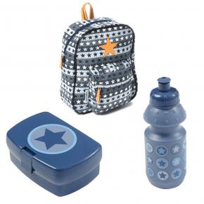 Smallstuff Ryggsäck inkl. Matlåda/vattenflaska - blå Ryggsäck