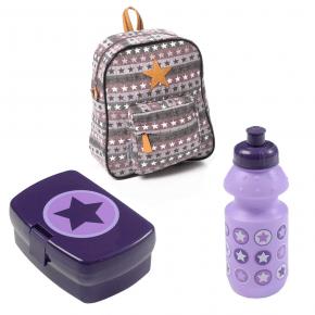 Smallstuff ryggsäck inkl. matlåda/vattenflaska - lila