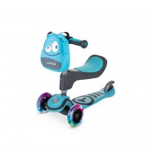 SMARTRIKE 2 i 1 Scooter T1 - blå