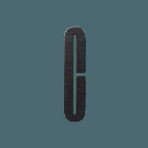 Design Letters Trä Bokstav C - Svart
