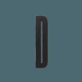 Design Letters Trä Bokstav D - Svart