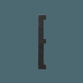 Design Letters Trä Bokstav E - Svart