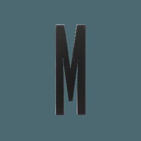 Design Letters Trä Bokstav M - Svart