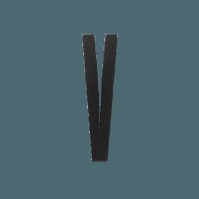 Design Letters Trä Bokstav V - Svart