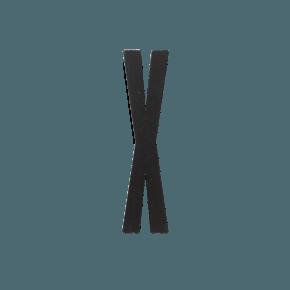 Design Letters Trä Bokstav X - Svart