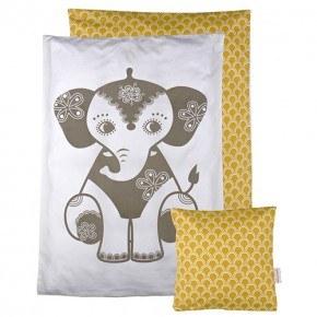 Roommate Elefant Bäddset till Docksäng