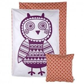 Roommate Soulmate Birdie Sängkläder (vuxen) - Lilla/Röd