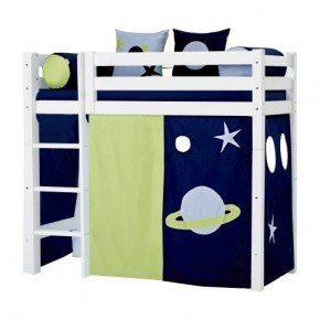 Hoppekids Gardin till mellanhög säng (70x160) - Space