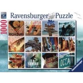 Ravensburger -  Surfer Collage Pussel 1000 Bitar