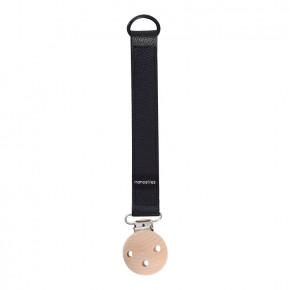 Manostiles nappband, svart läder (18 cm)