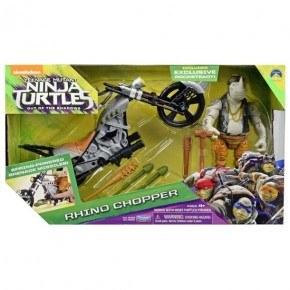 Turtles Rocksteady Med Motorcykel