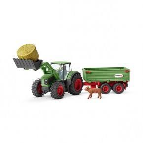 Schleich (42379) Traktor med Släp