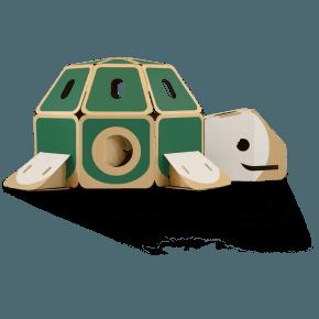 HULKI Papp-Lekhus Sköldpadda - Vit