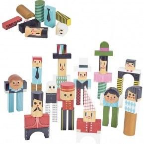 Vilac byggstenar människor - Multi