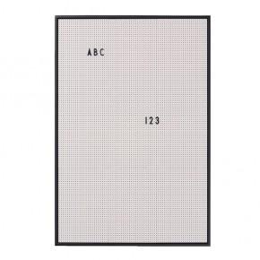 Design Letters Message Board A2 - Grå