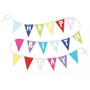 JaBaDaBaDo Happy Birthday Vimpel  - Multi