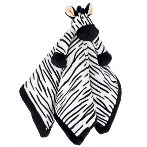 Teddykompaniet Diinglisar Snuttefilt Zebra - Svart/Vit